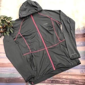 Columbia Gray Omni Wick Hooded Zip Jacket